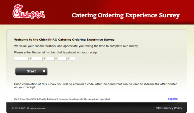 Chick-fil-A Catering Ordering Experience Survey
