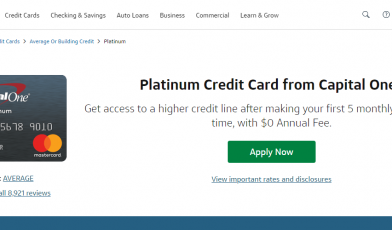 Capital One Platinum Credit Card Apply