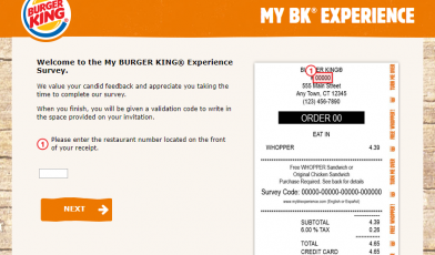 My BK Experience Survey
