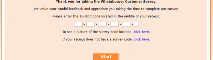 Whataburger Customer Survey