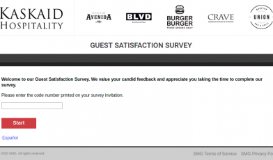 Kaskaid Guest Satisfaction Survey