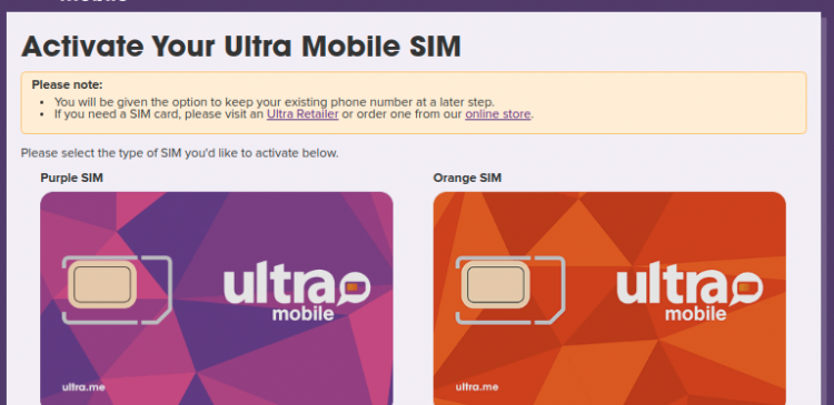 Ultra Mobile Activation Logo