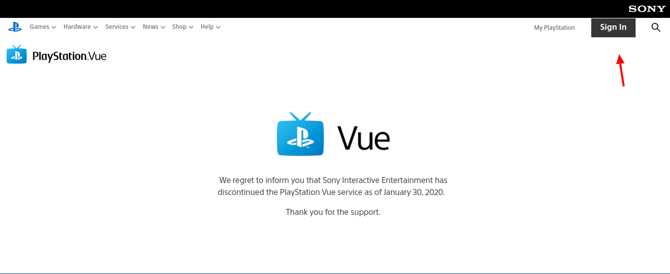 PlayStation Vue Create Account