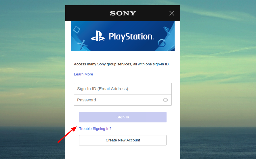 Sony Playsttion Vue Login