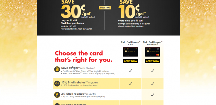 Apply for the Shell I Fuel Rewards Credit Card