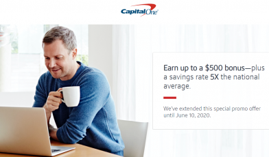 Capital One Savings Account to Earn Bonus