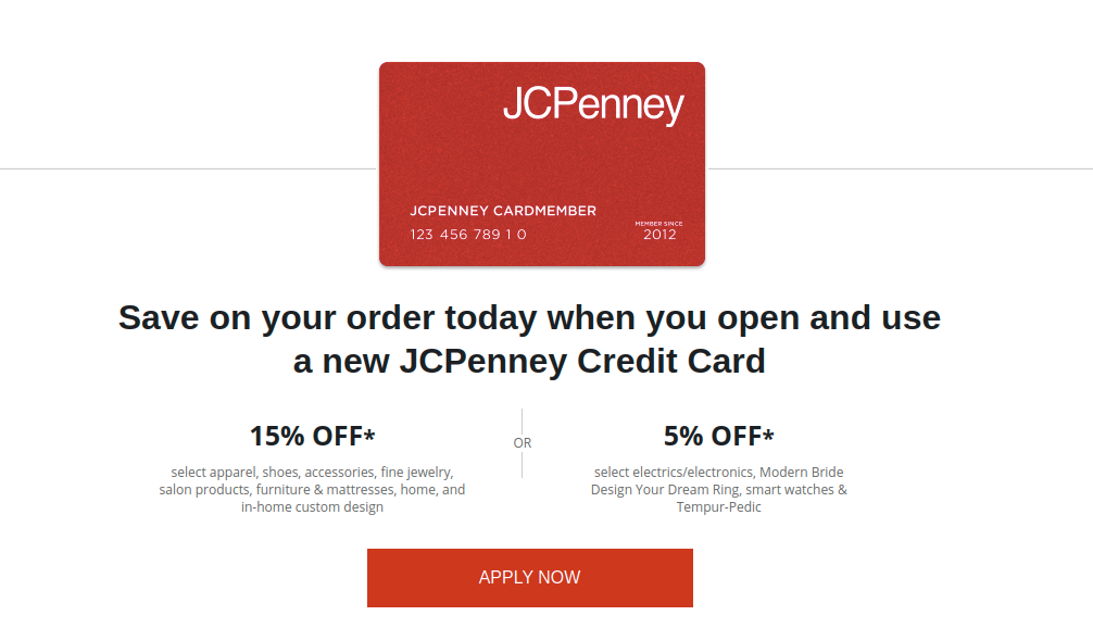 JCPenney Credit Card Apply