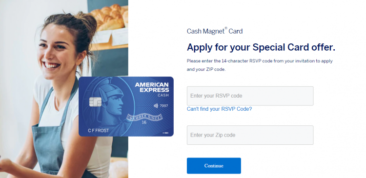 Respond to the AMEX Cash Magnet Card Offer
