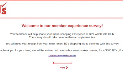 Bjs Feedback Survey logo