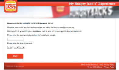 My HUNGRY Jack Survey