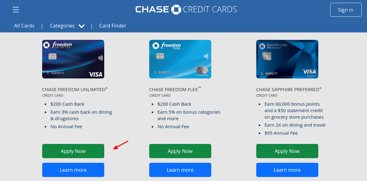 Chase Credit Card Apply